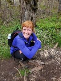 Sarah on the Woodland Trails